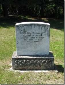 Acton-Birch cemetery monument